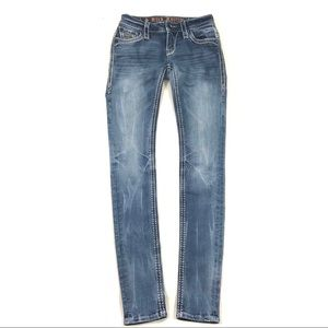 Rock Revival skinny Kailyn distressed jeans 25